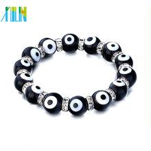 Perles de mauvais œil noir 2014 avec bracelet en strass cristal clair