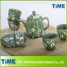 Service à thé de haute qualité avec peint à la main