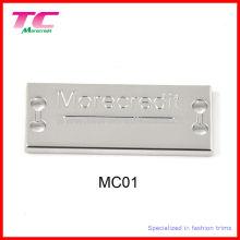 Nickel Plated Custom Metal Label