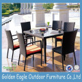 Wicker Furniture Glass Conversation Dining Set