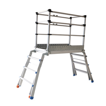 telescopic multi-purpose scaffolding ladder