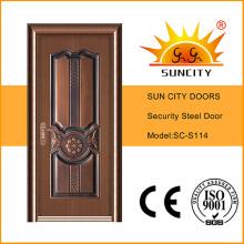 Горячая безопасности современная входная металлическая дверь в дом (СК-S114)