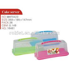 caixa de servidor de bolo de plástico
