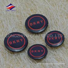 Insignia personalizada del perno de seguridad del color negro