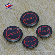 Black color safety pin customized logo bulk pin badges