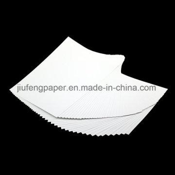 Venda quente 100% polpa de madeira tingida 100g de papel branco de marfim
