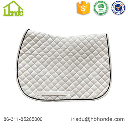 saddle pad white