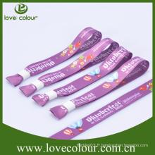 Bracelet en polyester imprimé imprimé imprimé coloré et personnalisé à une seule fois