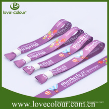 Custom colorful one-time use sublimation printed friendship polyester wristband