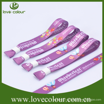 Benutzerdefinierte bunte einmalige Verwendung Sublimation gedruckt Freundschaft Polyester Wristband