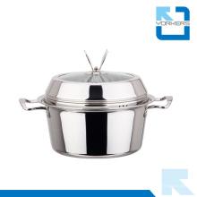 Forma de moda acero inoxidable stock pot y pote de sopa