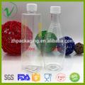 Transparent food grade empty juice PET plastic bottle with tamperproof cap
