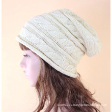 Lady Fashion Acrylic Knitted Winter Warm Hat (YKY3136)