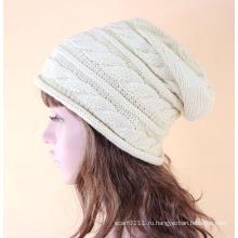 Леди мода акриловые трикотажные зима теплая шапка (YKY3136)