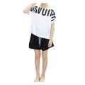 Girls Summer Letter Printed Leisure Short-sleeved Suit