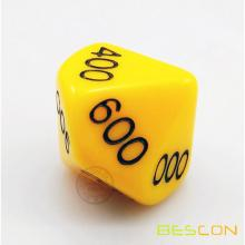 Custom Polyhedral Dice 10 sides 000-100