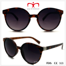 Plastic Unisex Round Sunglasses with Metal Decoration (WSP508301)