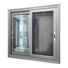 WANJIA aluminum sliding window with fly screens guards for aluminum sash windows
