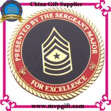 Подгонянная металлическая военная монета для подарка