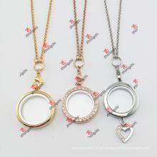 Fashion Lockets Encantos Joyería Match Cadenas Collar (JCN60104)