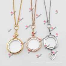 Fashion Lockets Charms Jewelry Match Chains Collier (JCN60104)