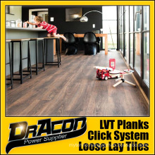 Durable Wood Click PVC Vinyl Floor Tile (P-7165)