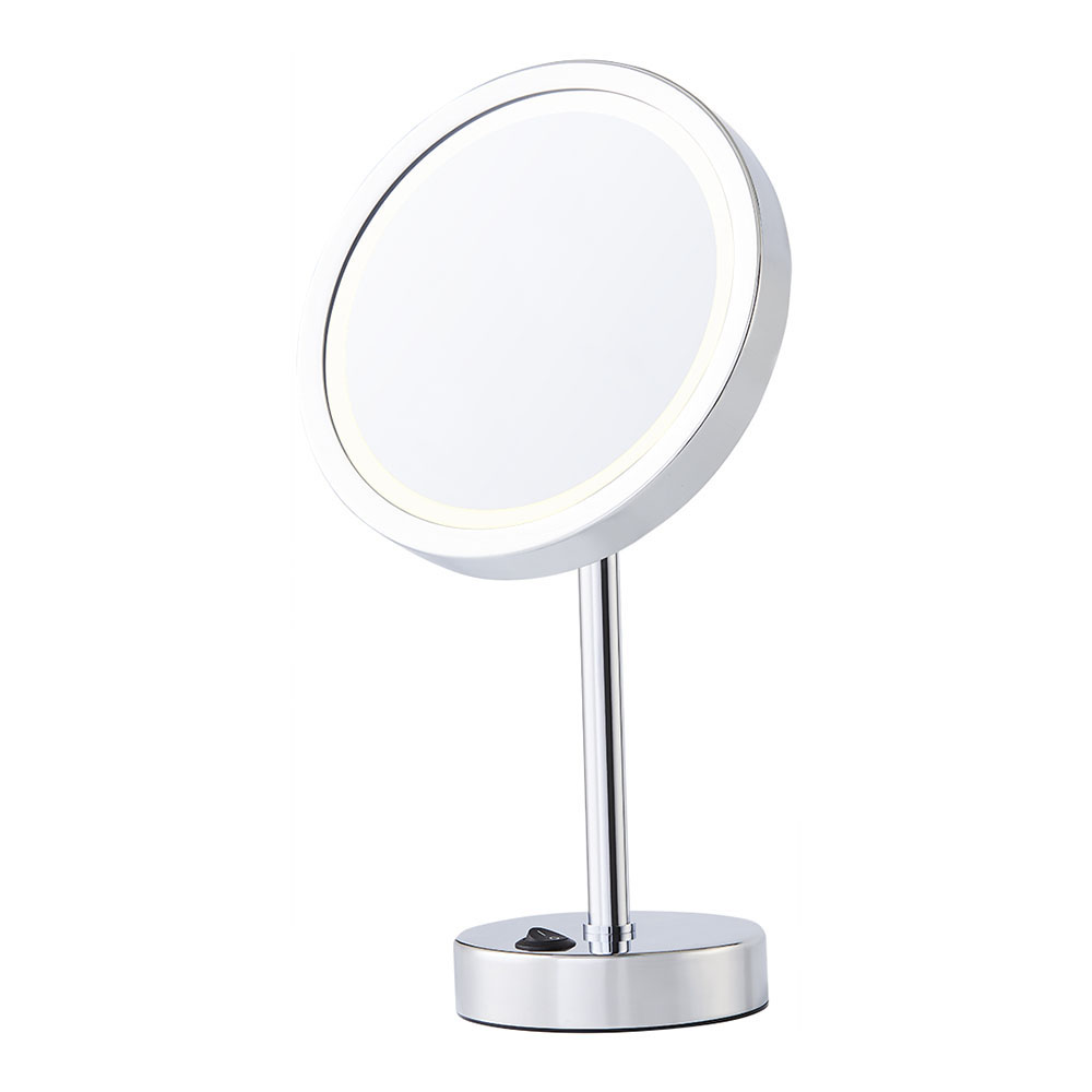 Vanity+table+mirror+Round+battery+mirror