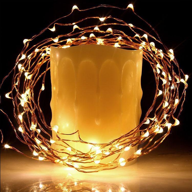 copper wire string light