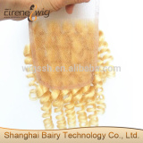 Eirene Stock High quality 100 unprocessed tangle free blonde hair closure piece