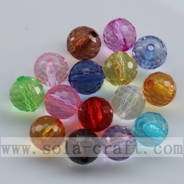 Nice Clear Football Faceted Jewelry Acrylic Crystal Beads
