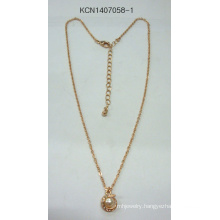 Metal Gold Plated with Gem Necklace