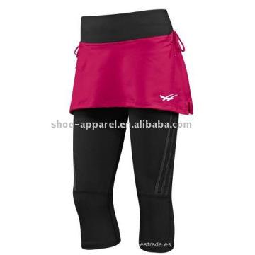Al por mayor barato con faldas pantalones de yoga, pantalones de fitness
