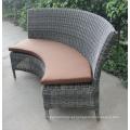Mobília ajustada do jardim da mesa de jantar redonda do Rattan do estilo de vida do lazer