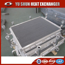 Fabricante og placa y bar aluminio enfriador de aceite hidráulico soldado para gato