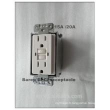 15A UL certificaiton Protection contre les fuites GFCI Wall Socket