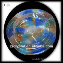 K9 Cendrier rond en cristal coloré
