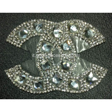Strass Applique moda per le donne Scarpe Trim, Hot Fix strass Motif