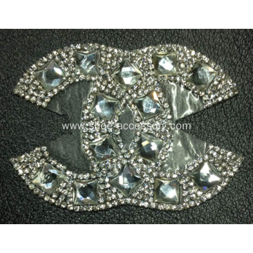 Fashion Rhinestone Applique for Women Shoes Trim, Hot Fix Rhinestone Motif