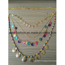 Animé Multi Bling Bling collier avec bijoux fantaisie métal Tassel