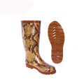 Fashion custom rubber rain boots with fur lining