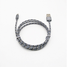 Nylon Braided Male a to Micro USB Data Sync Cable