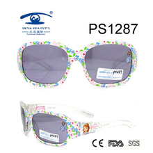 Custom Made Flower Cute Cartoon Patten Kid Plastic Sunglasses (PS1287)