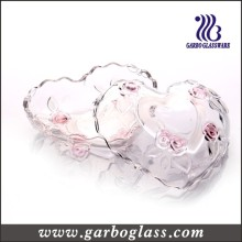 Heart-Shaped Glass Sugar Pot with Cover (GB1845XMG/PDS)