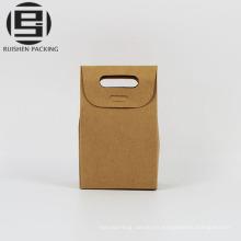 Sacs en papier kraft poignée poignée inférieure