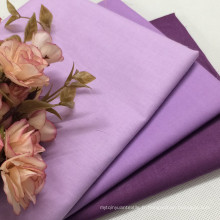 Tissu teinté simple en vrac 100% coton pour vêtement
