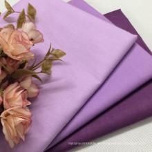 100% algodão tecido de cor sólida lisa para vestuário