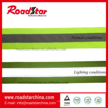Durable heat transfer printed reflective stripes