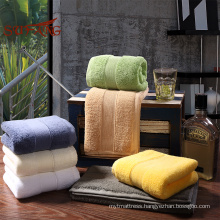 Different color towel premium material terry cotton spa& hotel bath towel