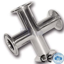 316L Polished Sanitary Stainless Steel Clamped Cross
