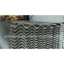 Chapa de acero galvanizado corrugado para techos